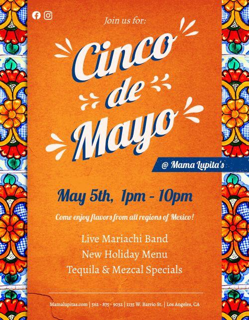 Orange Cinco de Mayo Flyer