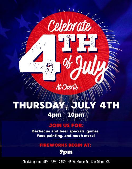 Fourth of July Fireworks Flyer