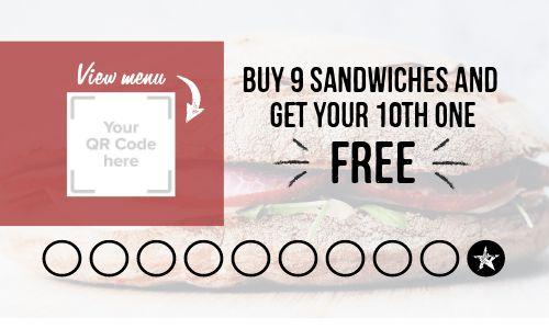 Sandwich Punch Card