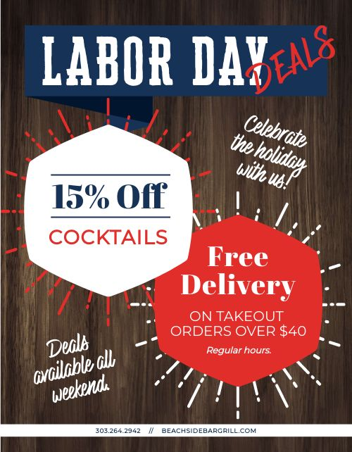 Labor Day Deals Flyer