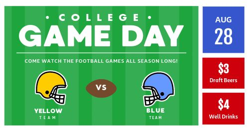 Game Day FB Post