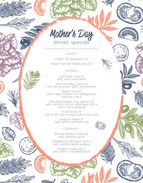 Mothers Day Dinner Specials
