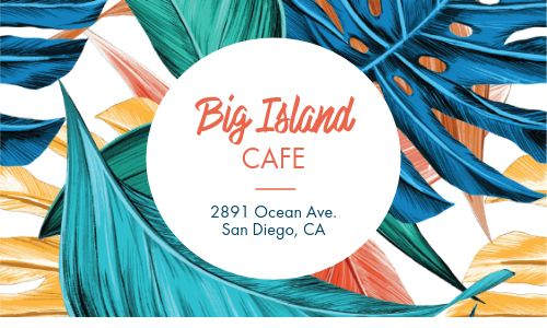 Plant Cafe Punch Card
