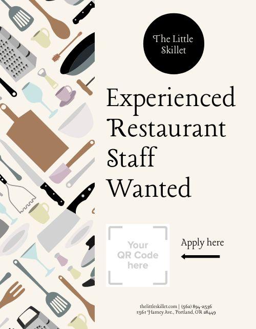 Restaurant Staff Wanted Flyer