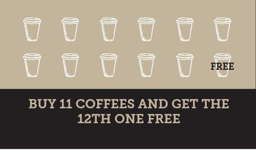 Coffee Hut Loyalty Card