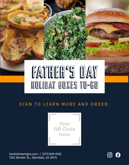 Fathers Day Holiday Flyer