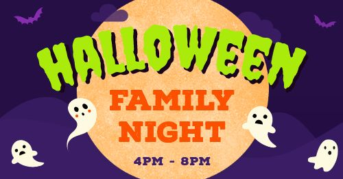 Halloween Family Night Facebook Post