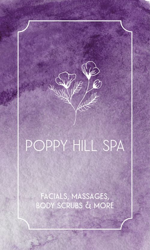 Soothing Spa Business Card