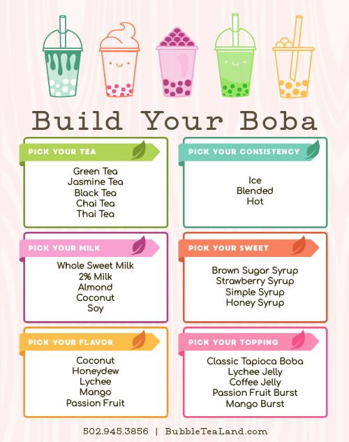 Boba Tea Sidewalk Sign