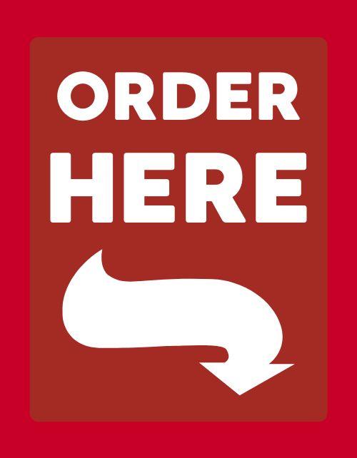 Order Here Flyer