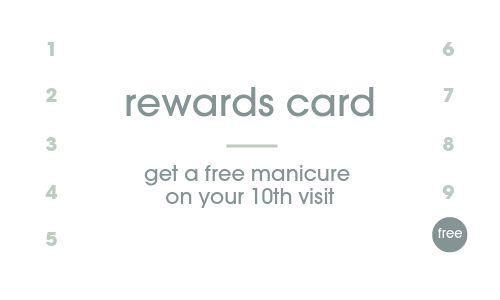 Nail Spa Loyalty Card