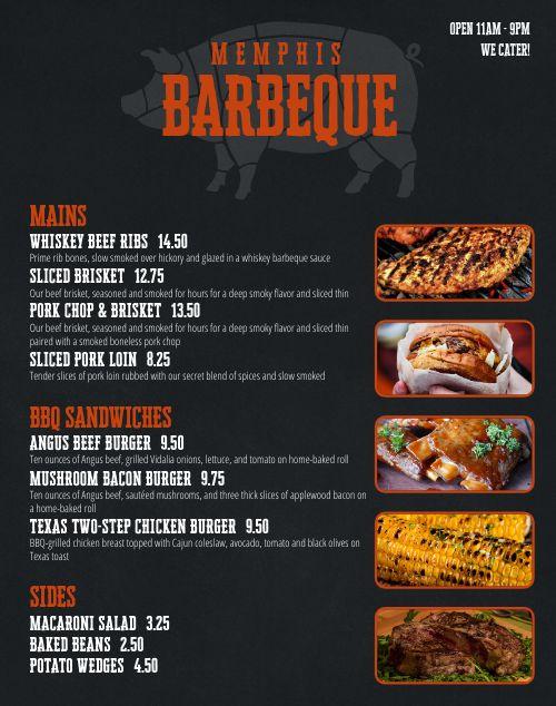 Grill Food Truck Menu Poster