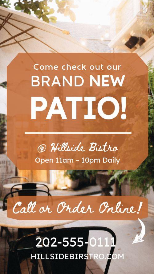 Outdoor Patio Facebook Story