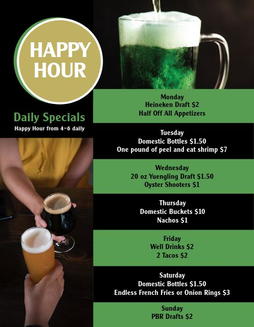 Irish Bar Menu