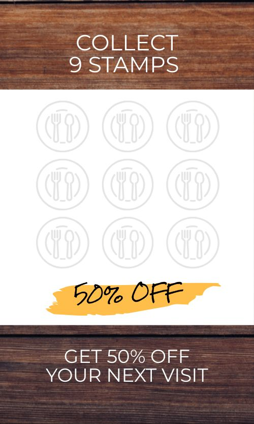 Stamps Cafe Loyalty Card