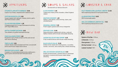 Abstract Seafood Digital Menu Board
