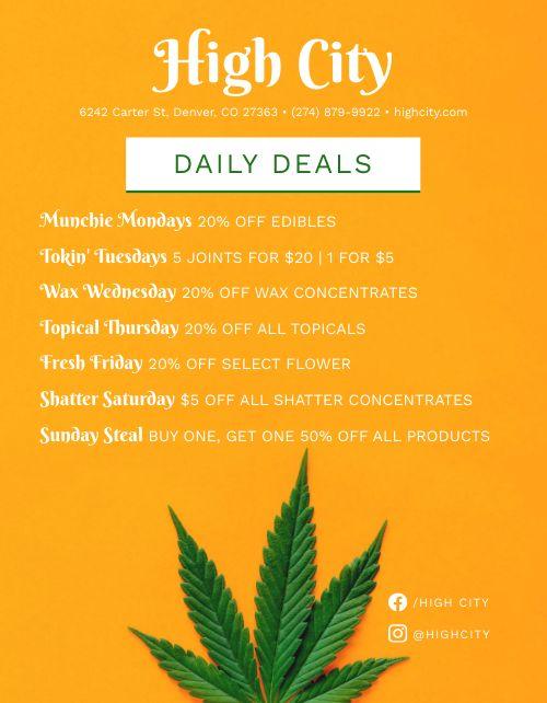 Dispensary Deals Signage