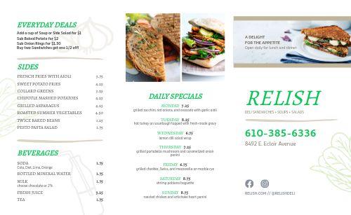 Fresh Sandwich Deli Takeout Menu