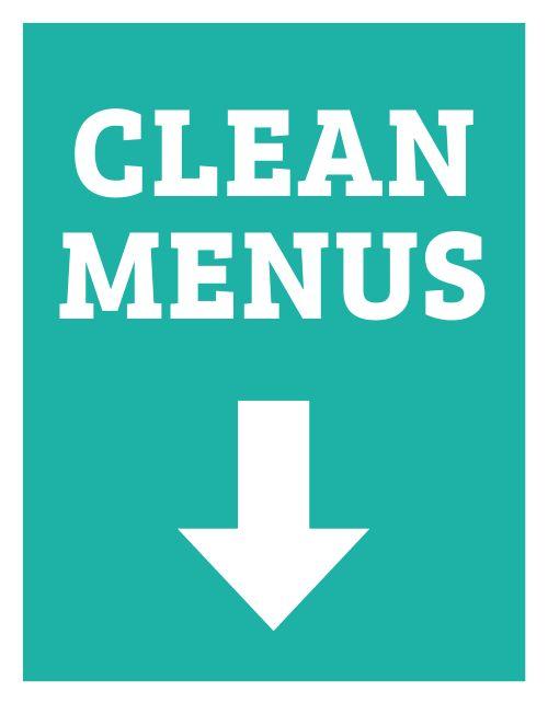 Clean Menus Sign
