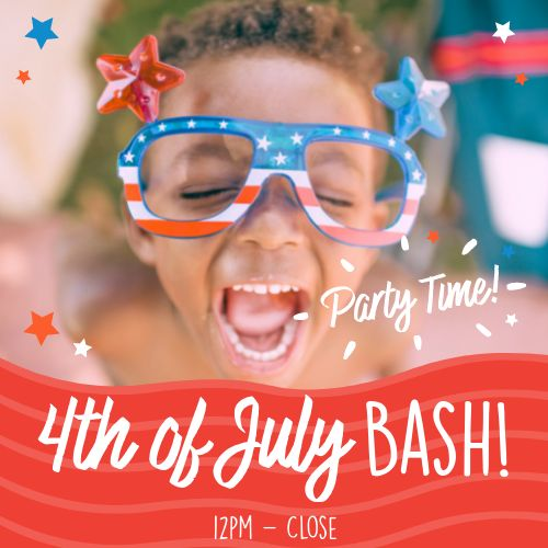 July 4th Party Instagram Post