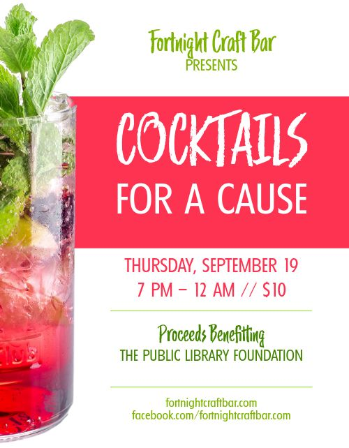 Cocktails for a Cause Flyer