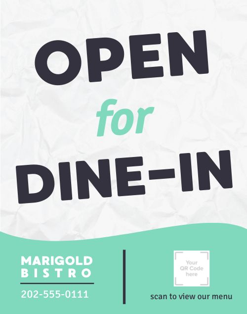 Open Dine In Poster