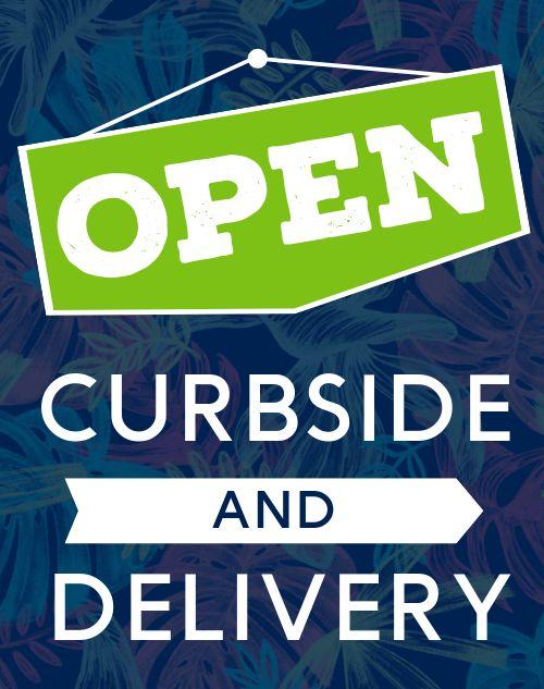 Open Curbside Sandwich Sign