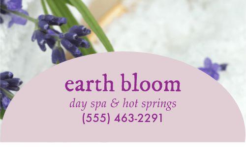 Spa Salon Business Card
