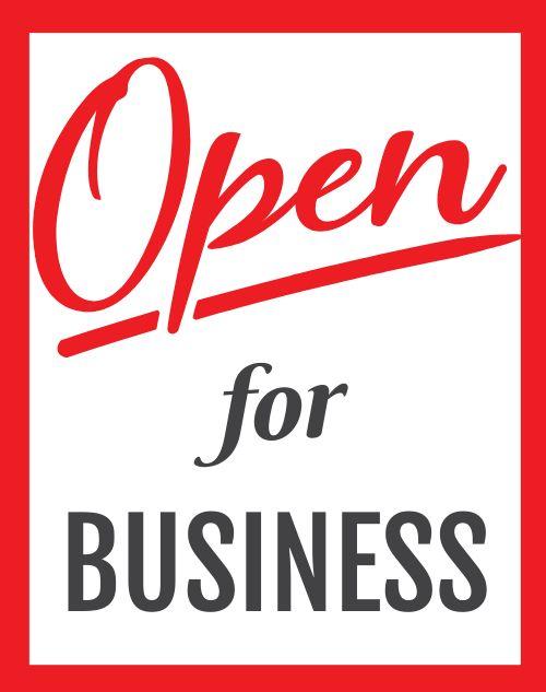 Open Folding Sign