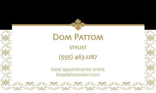 Salon Services Business Card