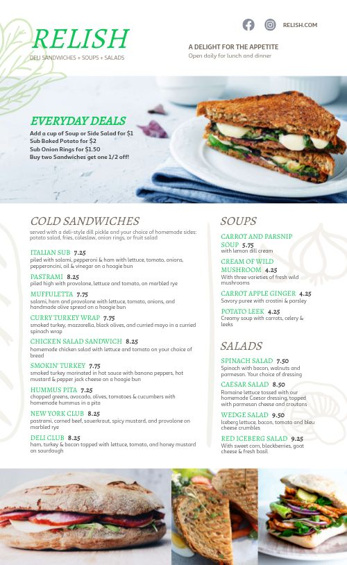 Fresh Sandwich Deli Menu
