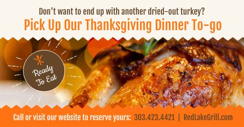Thanksgiving Meal Facebook Post