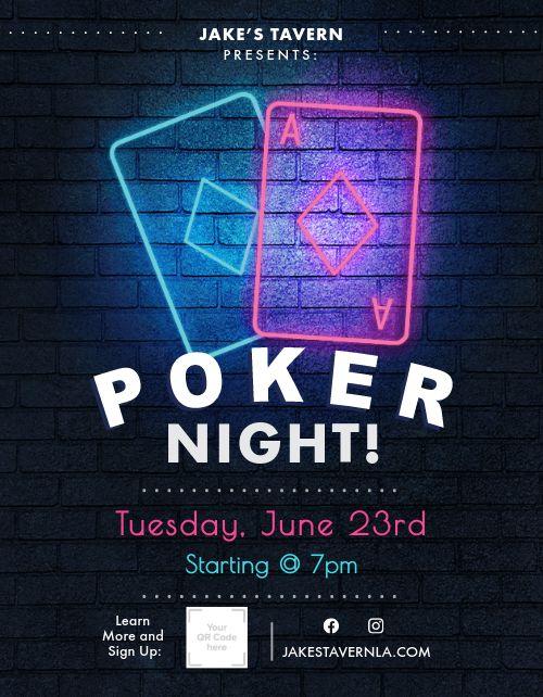 Poker Night Bar Flyer