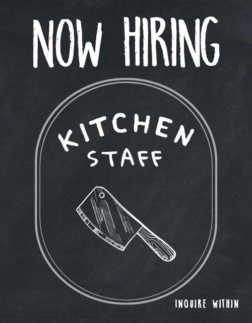 Hiring Kitchen Staff Flyer