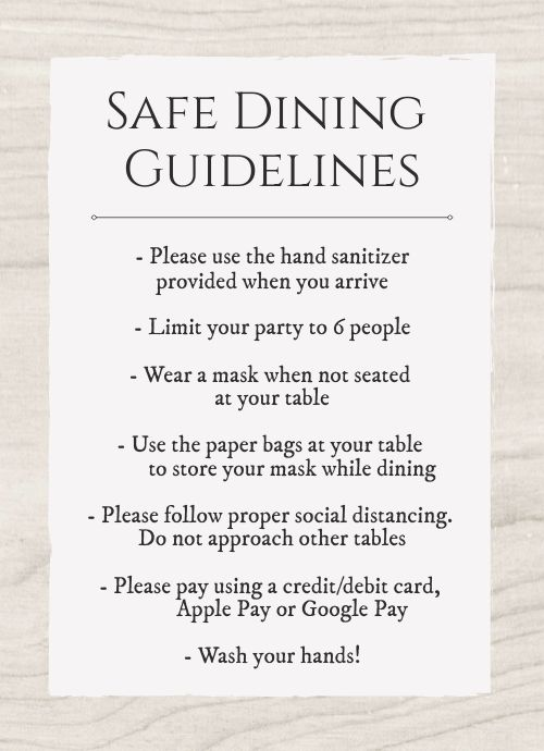 Safety Tabletop Sign