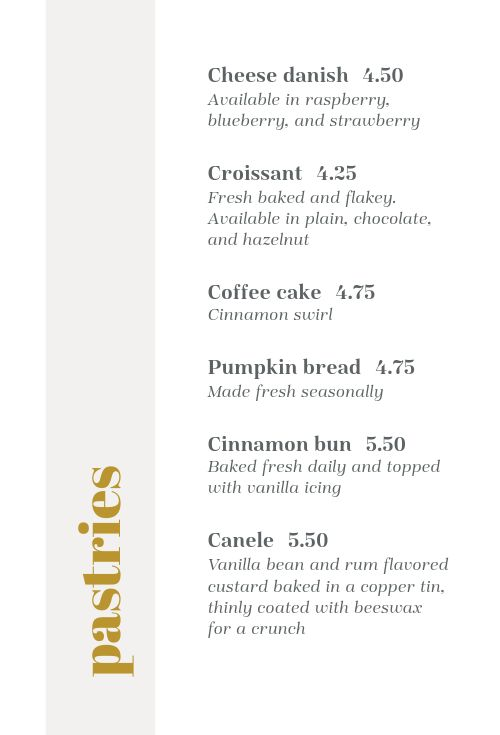 Cafe List Table Tent