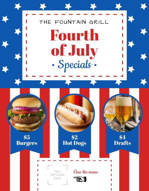 Fourth of July Sign