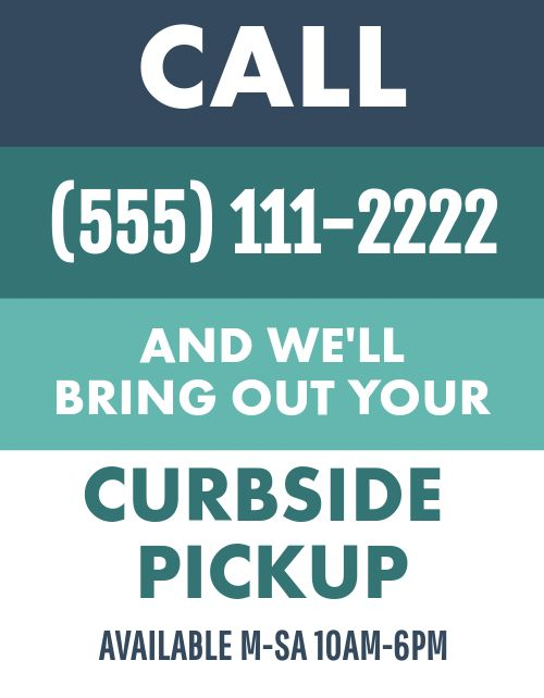 Call Curbside Pickup Flyer