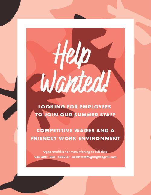 Summer Staff Flyer