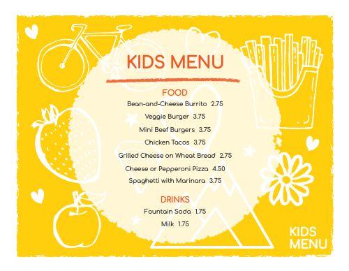 Kids Dining Menu