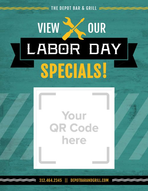 Labor Day Specials Sign