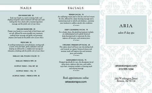 Beauty Salon Trifold Menu