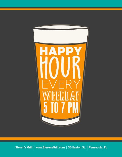 Daily Happy Hour Flyer