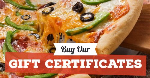 Pizza Gift Certificates Facebook Post