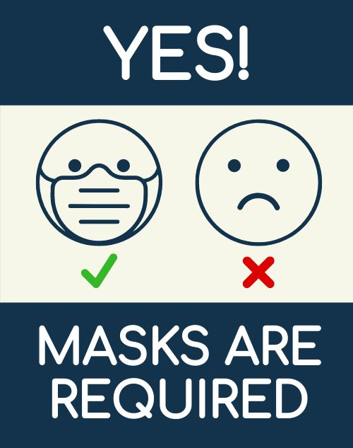 Mask Required Sandwich Sign