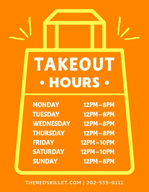 To Go Hours Flyer