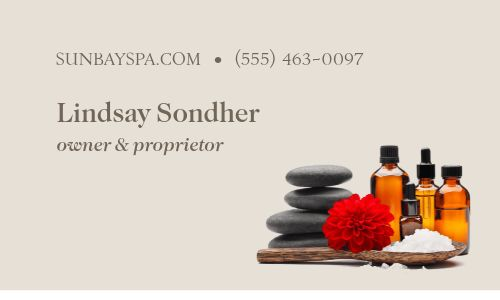 Day Spa Lotus Business Card