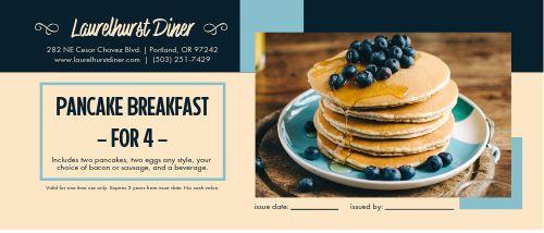 Pancake Breakfast Gift Certificate