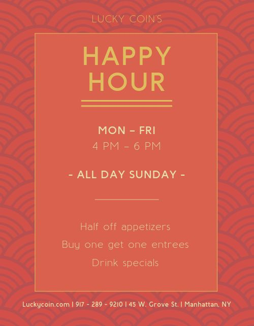 Chinese Happy Hour Flyer