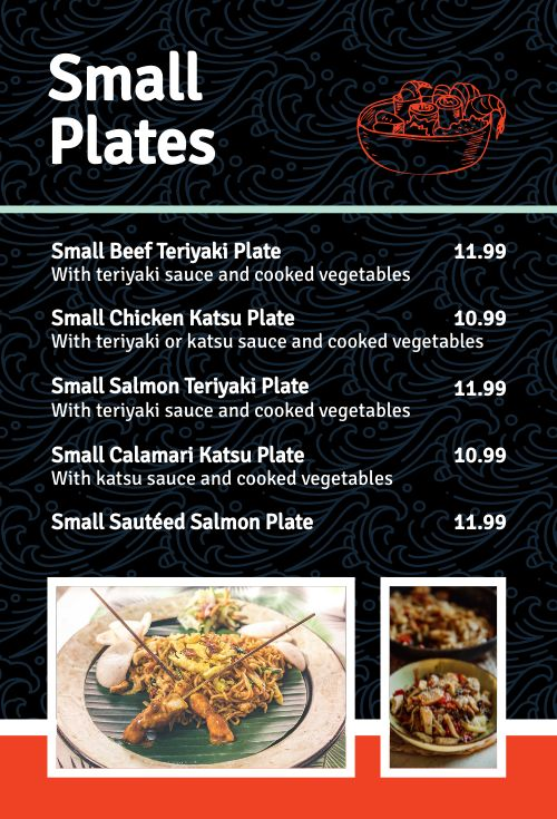 Japanese Specials Table Tent